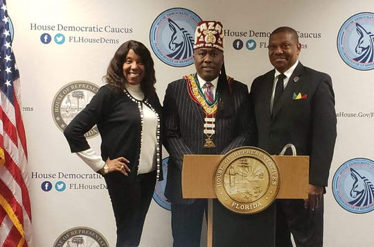 "The Prince Hall Shriners and their sister organization, the Daughters, were in Florida's Capitol from around the state to address ""the burden of diabetes in Florida."" Th"