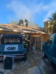 St.  Lucie County Fire District responded to a house fire Sunday afternoon. Four adults were displaced from the fire.