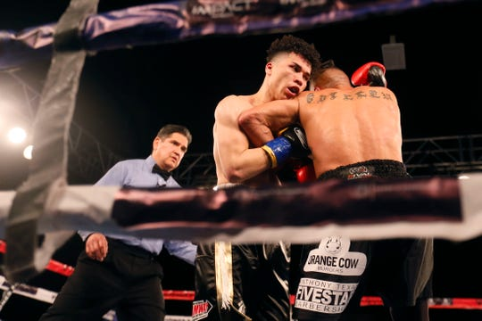 Abel Mendoza boxes Juan Carlos Guillen Saturday, Feb. 1, at Inn of the Mountain Gods in Mescalero, N.M.
