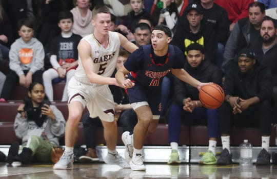 Iona defeated Stepinac 66-61 in basketball action at the Hynes Center at Iona College in New Rochelle Feb. 1, 2020.