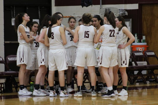 The Harrison Huskies defeated the Mahopac Indians in a high school girls' basketball game on Saturday, Feb. 1, 2020.
