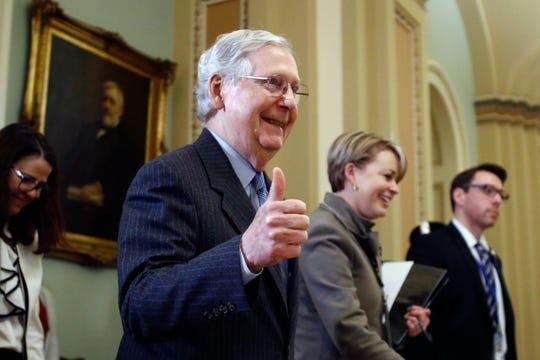 Senate Majority Leader Mitch McConnell, R-Ky., on Jan. 31, 2020.
