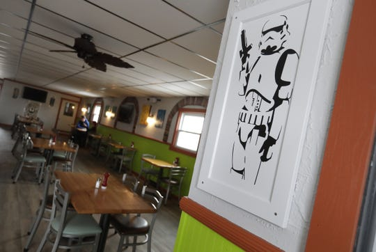 Cheesesteak Rebellion, a new restaurant at 1301 S. Broadway in Green Bay is decorated with Star Wars-inspired art.