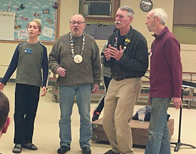 From left, acappella fellasRillian T. (tenor), Bob Burns (lead), Mike Richard (bass) and Lindsay Morris (baritone)