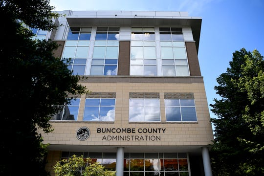 The Buncombe County Administration Building in Asheville Sept. 4, 2018.