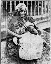 Sarah Gudger, seen here in a photo from The Asheville Citizen in the 1930s, provided unique anecdotal insight into life as a slave in Western North Carolina before she died at the age of 122 in 1938.