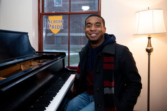 Jontaj Wallace, a music education major at Albion College, took part in the 2013 Albion merger with Marshall High School, which led to the annexation of the entire school district in 2016. As districts around the state face the same crises as Albion, schools are looking to Marshall for guidance.