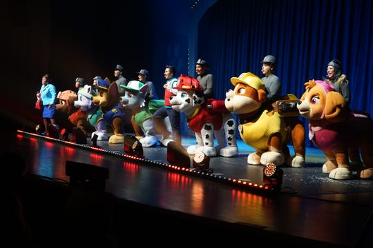 "The tour of ""PAW Patrol Live! ""Race to the Rescue"" will stop at the Floyd L. Maines Veterans Memorial Arena for three performances this week."