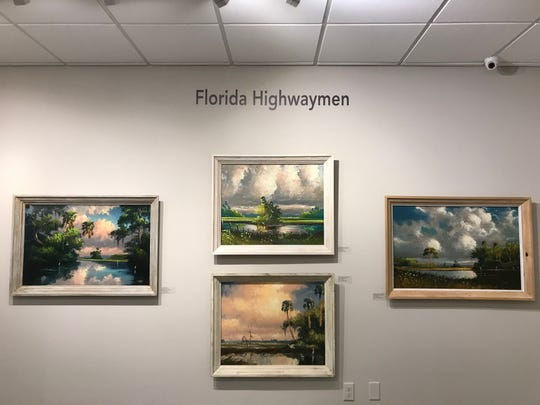 The A.E. Backus Museum in Fort Pierce has a permanent display of Florida Highwaymen art.