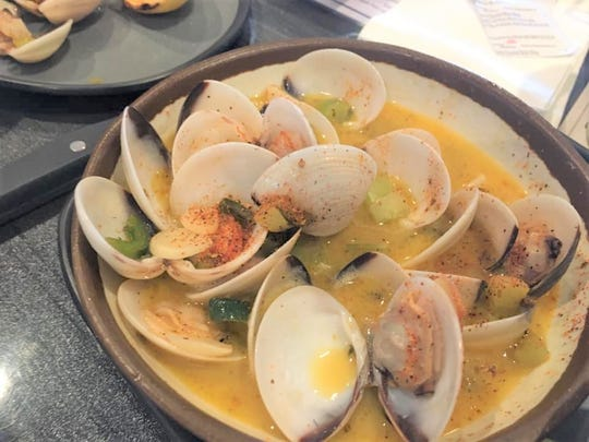 Jaimie Stafford highly recommends the clams at Junkanoo Island Kitchen and Rum Bar at Port Canaveral.