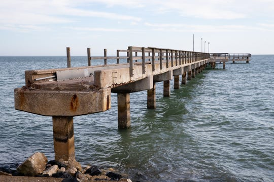 Cole Park Pier was severely damaged during Hurricane Harvey in August 2017 and has been closed ever since. City officials announced during a press conference on Monday, Feb. 3, 2020 they plan to recommend a Dallas firm to design a new pier to replace it.