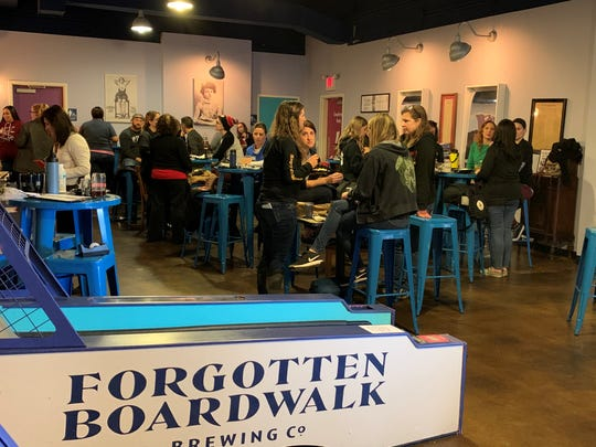 Women's Brew Day 2020 at Forgotten Boardwalk Brewing in Cherry Hill, organized by New Jersey Brewers Association, brought together more than 100 women who work in the state's craft brewing industry.