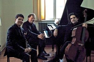 The Goldstein Peled Fiterstein Trio is composed of pianist Alon Goldstein, cellist Amit Peled, and clarinetist Alexander Fiterstein.