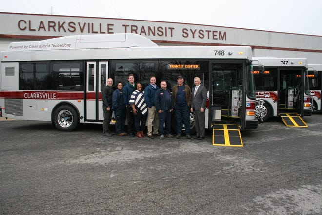 Clarksville Transit System has added three new fuel-efficient hybrid buses to its fleet, replacing three high-mileage conventional fuel vehicles. Mayor Joe Pitts joined CTS Director Paul Nelson and some CTS staff members Wednesday for a tour of the new vehicles.