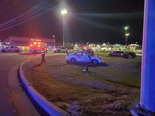 A car and a motorcycle crashed on Sunday, Feb. 2, 2020, on Wilma Rudolph Boulevard.