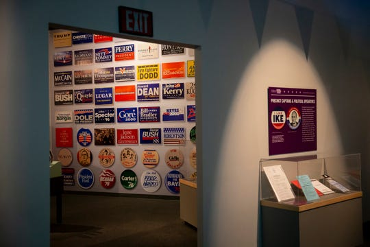 """Pieces from the State Historical Museum's """"First in the Nation"""" Exhibition is seen on Monday, Feb. 3, 2020, in Des Moines."""