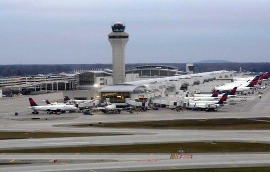 FILE -- The McNamara Terminal at Detroit Metro Airport in Romulus. Photographed January 2017.