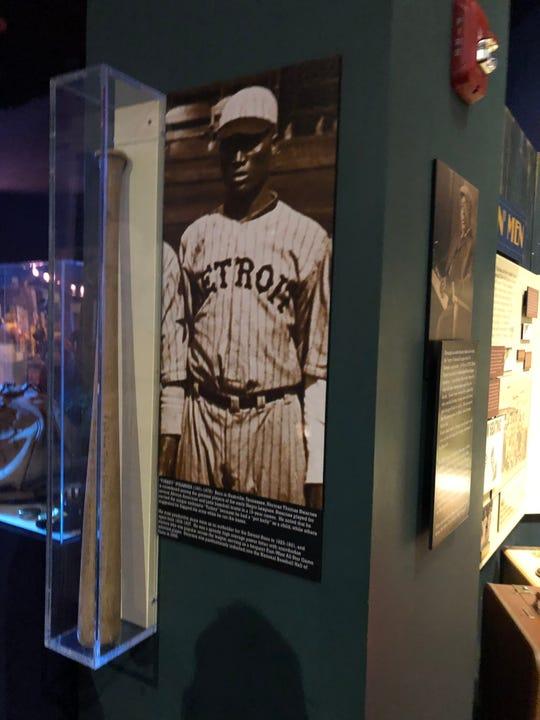 Turkey Stearnes' bat at the NLBM, Kansas City, MO.
