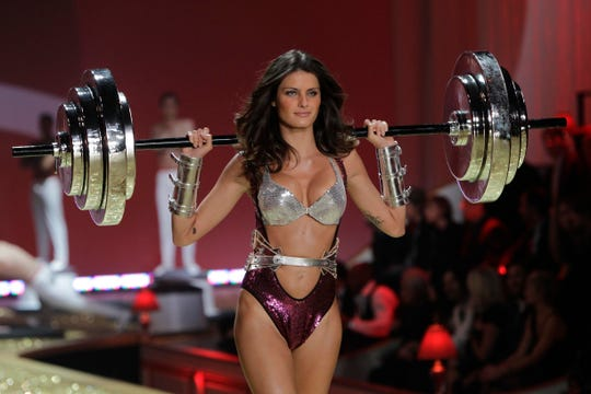 A model wears clothes from Victoria's Secret during a fashion show in New York, Wednesday, Nov. 10, 2010.