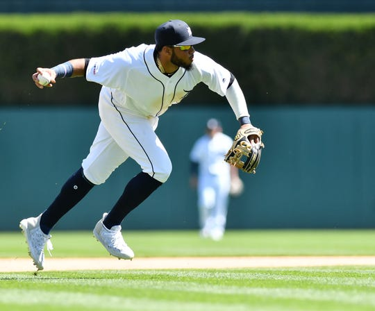 Tigers infielder Dawel Lugo is from the Dominican Republic.