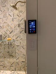 A panel for a smart bathroom being introduced by Kohler. (Design Recipes/TNS)