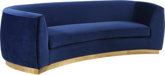 The Julian Velvet Sofa priced at $1,474 .