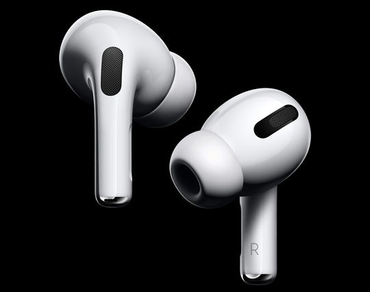 Apple's AirPods Pro have a shorter stem and silicone ear tips. (Apple/TNS)