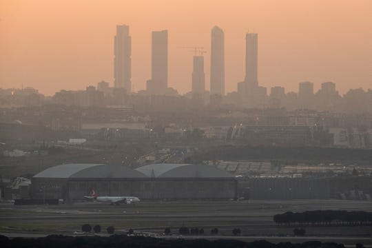 View of the Adolfo Suárez-Barajas international airport in Barajas, outskirts of Madrid, Monday, Feb. 2, 2020.