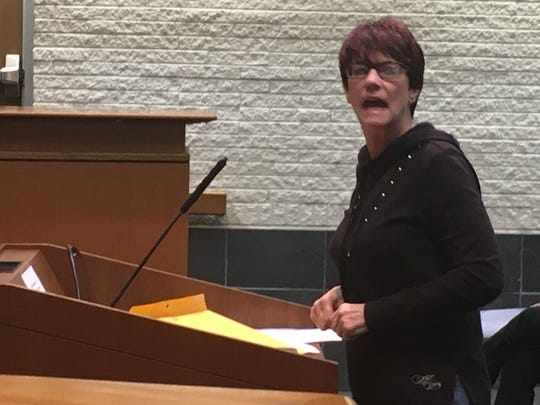 Taylor resident Cathy Carroll addressed the City Council during a meeting on Jan. 21, 2020