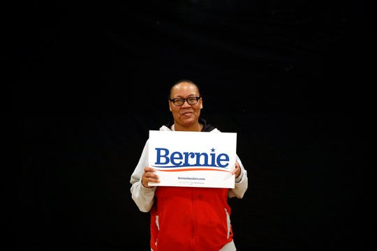 In this Jan. 25, 2020, photo, Rashanda Holts poses for a portrait at a campaign event for Democratic presidential candidate Sen. Bernie Sanders, I-Vt., in Marshalltown, Iowa.