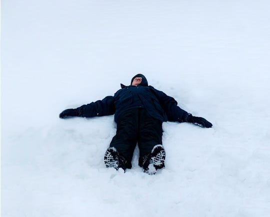 Gene Scheer, 90, of Fond du Lac, made his first snow angel in late January.
