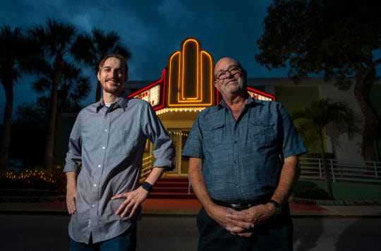 From left, Matt Kuser, new technical director, and George Ringlen, co-chairman of outreach committee, are bringing their talents to the Cultural Park Theater in Cape Coral.