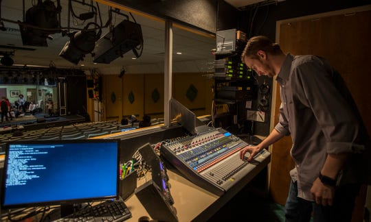 Matt Kuser, new technical director at Cultural Park Theater in Cape Coral, works mainly out of the tech booth controlling lights, sound and other technical aspects of live theater productions.