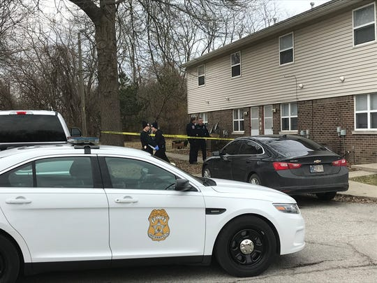 Police were questioning a woman after a man was fatally shot Monday at an east-side apartment.