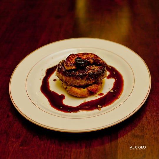 Torchon of Moulard Duck Foie Gras with Fig Glaze & Fillet Mignon With Foie Gras & Black Truffles.