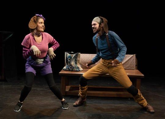 "A scene from ""Emmett & Ella: A Doggone Mystery."""