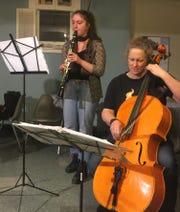 Franny Alani and Rebecca Couillard participate in Jewish storytelling.