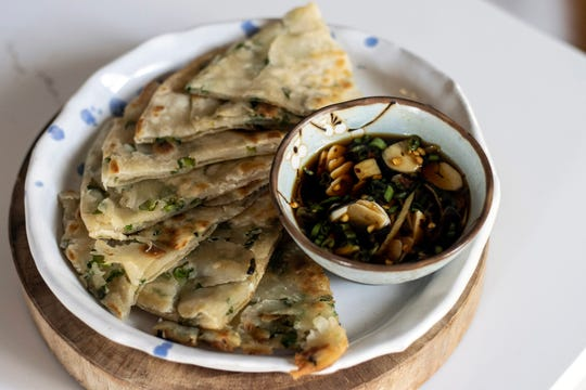 Executive chef Ming Pu's scallion pancake family recipe has been passed down for generations, with their delicious smell triggering some of his earliest memories as a child growing up in Taiwan. 1/26/20