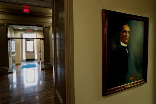 A painting of William Goodell Frost hangs in the Frost building. He was president of Berea College from 1890 to 1920.Jan. 28, 2020