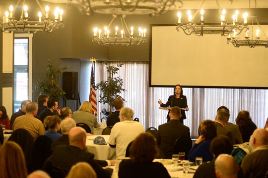 Ohio GOP chair Jane Timken urged local Republicans Monday to throw their support behind Republican Ohio Supreme Court candidates.