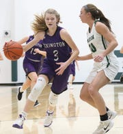 Lexington's Lizzie Hamler hopes to help Lady Lex clinch the Ohio Cardinal Conference championship on Saturday.