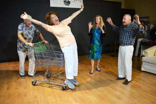 """Kip Jones, Marilyn Hilbert, Rose Curreri and Alex Costello in """"Tango at Two-Thirty."""""""