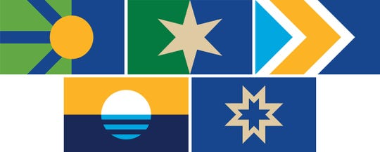 These were the finalists for a new Milwaukee city flag the last time there was a contest to replace the city's 1954 design.