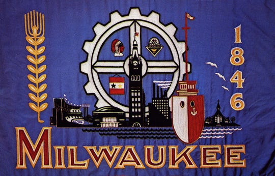 Milwaukee's official city flag, designed in 1954.