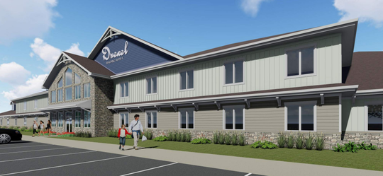 Drexel Building Supply Inc.'s proposed New Berlin development includes an office and showroom.