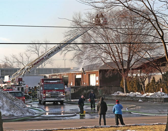 A maintenance shed in West Milwaukee caught fire Feb. 3 and suffered significant damage. A portion of a ceiling inside the building collapsed, but no one was injured, fire officials said.