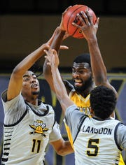 DeAndre Abram is one of three seniors who transferred in and played for two seasons at UWM.