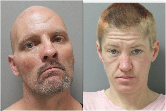 Johnny Henley and Whitney Wiley (file mugshot)
