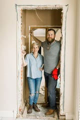"Ben and Erin Napier star in HGTV's home makeover show, ""Home Town."""