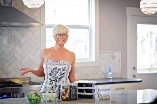 Life coach Corinne Crabtree poses for a picture at her Nolensville home.